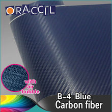 Good Quality 1.52x30m Car Full Body Stickers 3D Carbon Fiber Folie Blue Wrapping Paper Roll