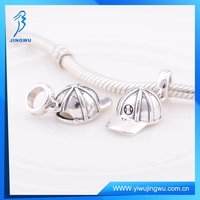 Popular Football Cap Charm Pendant 925 Sterling Silver For Bracelet