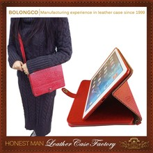 Luxury Latest Design Embellished Top Grade Leather Zipper Case For Ipad 2