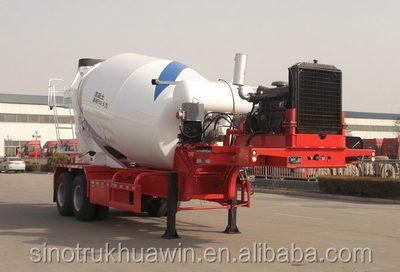 2016 bulik powder 2 axle 8CBM concrete mixer semi trailer made in China