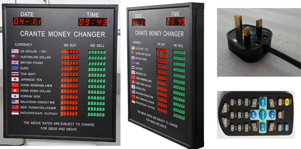 BTRG-60H50L BABBITT 12 Rows and 2 Columns Currency exchange rate display board