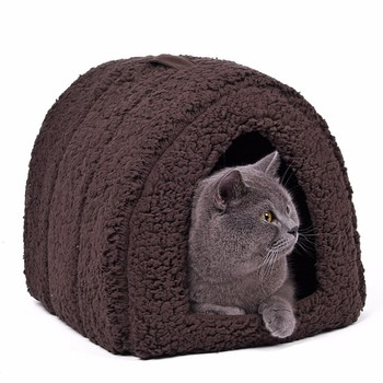 top one yufeng craft elevated tunnel pet bed with knitted fabric