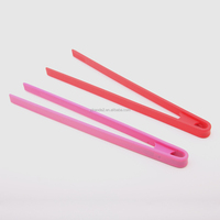 Wholesale Plastic Food Serving Tongs colorful silicone kitchen utensils