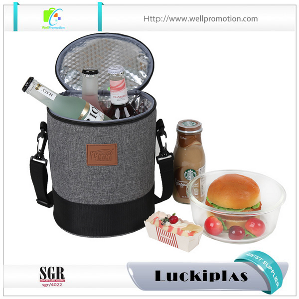 Wholesale insulated round shoulder lunch cooler bag