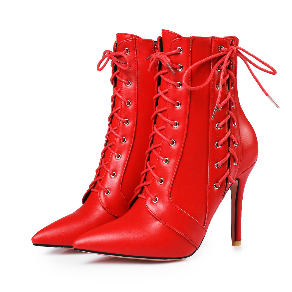 Wholesale New Design Winter Snow Ankle High Heel Boots Sexy Women Ladies Casual Work Boots