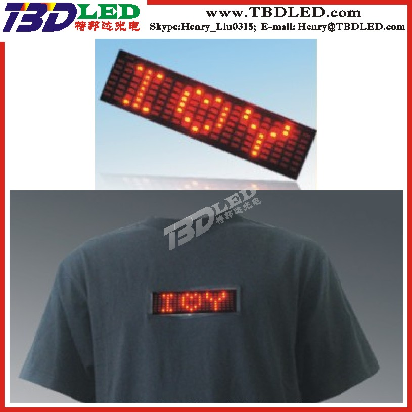 All kind of Digital Programmable t shirt led display /mini led message sign board