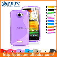Set Screen Protector Stylus And Case , Colorful Silicone Back Cover For HTC One X