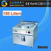 Electric tilting boiling pan with 150 liters industrial electric jacketed kettle (SUNRRY SY-GBP900C)