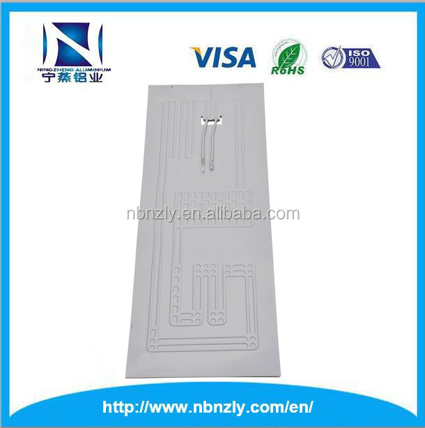 Aluminum evaporator plate for refrigerator part