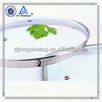 High tempered glass cooking pot lid with steam holes