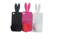 long ear dot rabbit pattern silicone factory phone covers