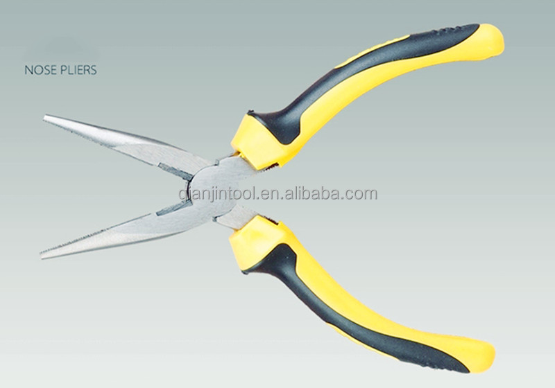 QJ-06P Carbon Steel Long Nose Pliers Hand Tools Manufacturer