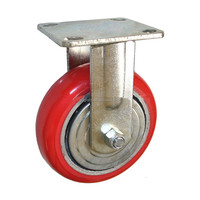 "5"" heavy-duty polyurethane fixed caster wheels"