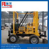 200M water well drill rig wth 22 HP diesel engine