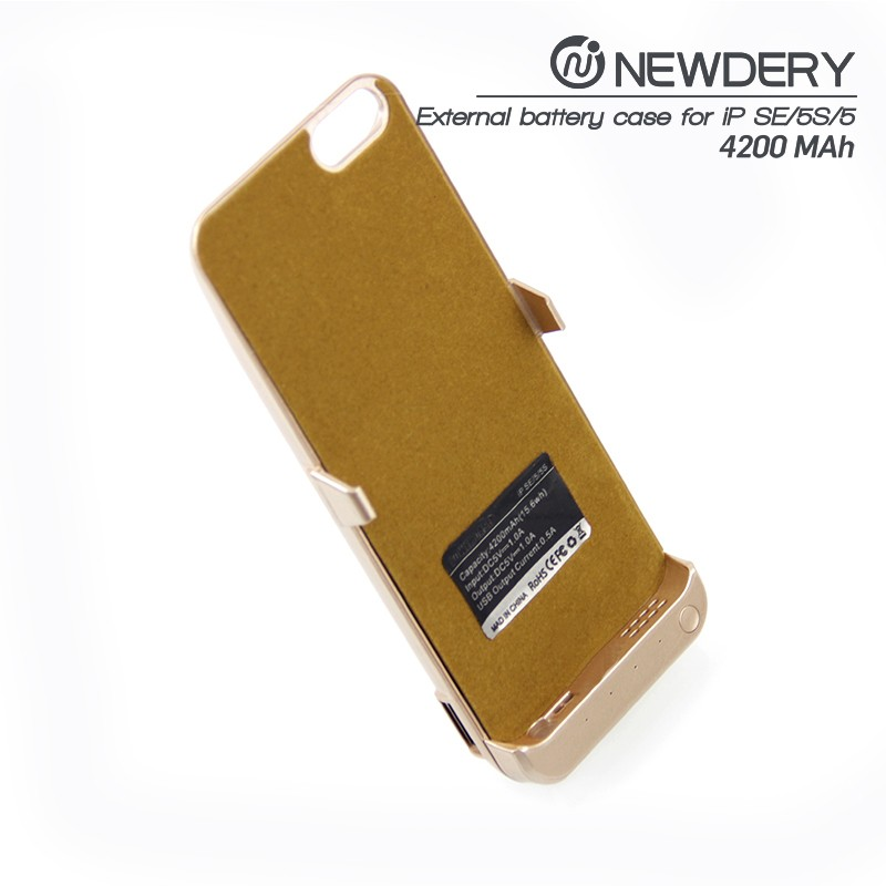 Factory price power bank case back up cover for iPhone 5 5s for Iphone SE battery case mobile power supply