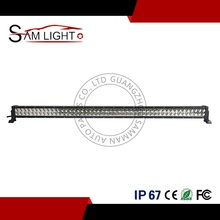 288w 300w led light bar flood/spot white/amber 50 inch 52 inch curved led light bar for truck jeep RV SUV ATV 4X4 offroad