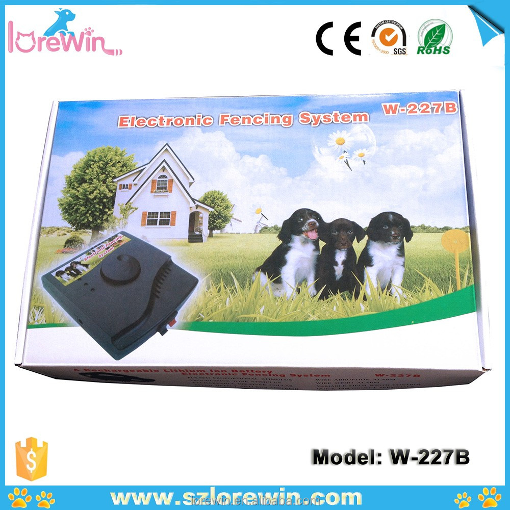 2017 Outdoor Electronic Pet Dog Fence System Collar, Protable Wireless Invisible Electric Fence Dog Collar, W-227B
