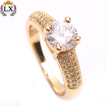 RLX-00388 wedding custom ladies diamond fashion jewellery rings dubai gold designs finger CZ zircon stone rings gemstone latest