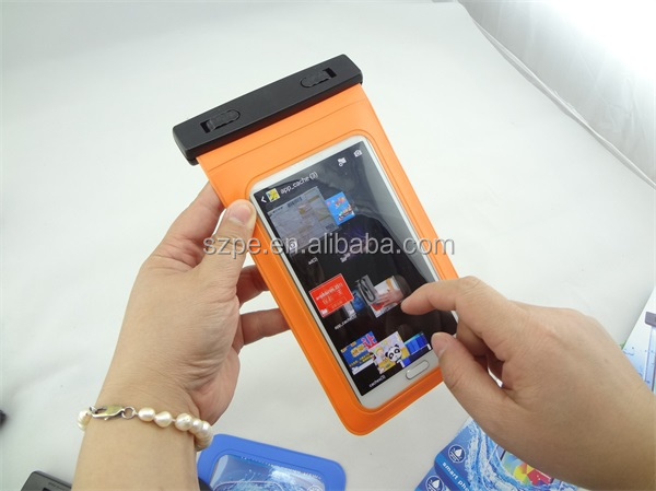PVC waterproof dry phone case