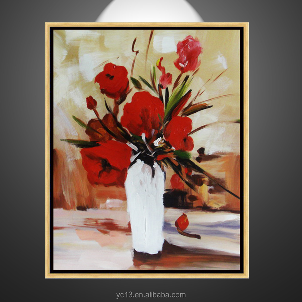 home decoration wall artwork modern hand canvas flower oil painting
