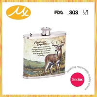 Hot sale promotional sex russia girls hip flask gift set