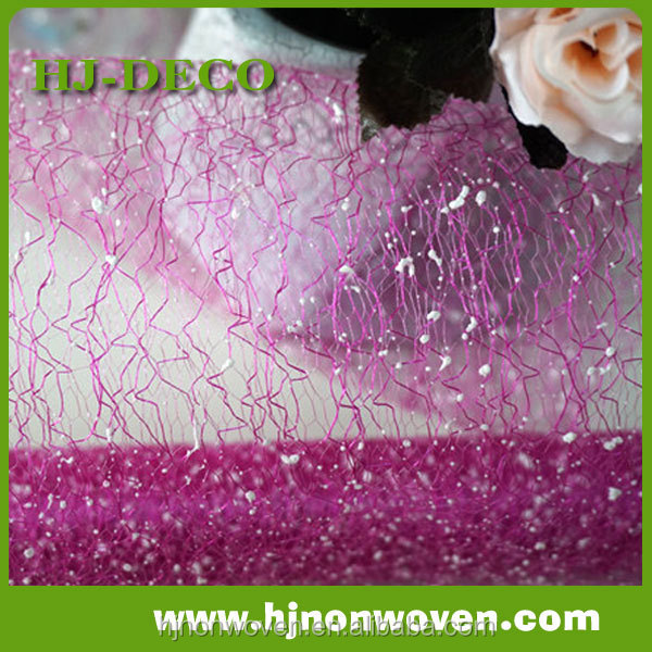 high quality poly deco mesh fabric for wedding flower wrapping