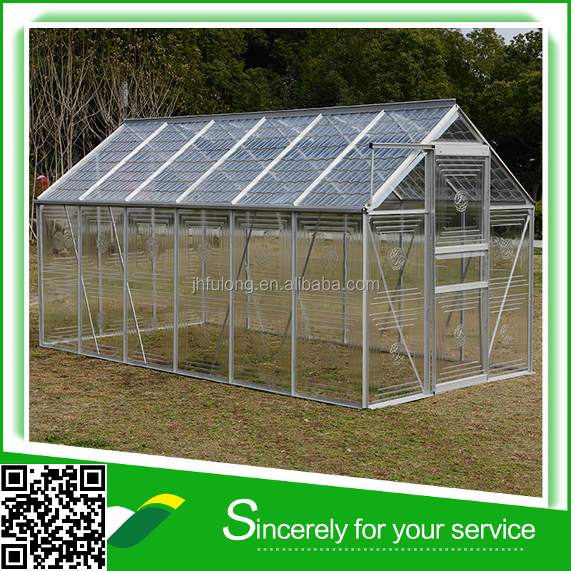 Plastic low cost garden green house with corrugated panels LJ-9006B