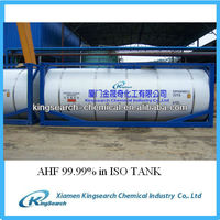 anhydrous hydrofluoric acid 99.99 HF acid price for sale