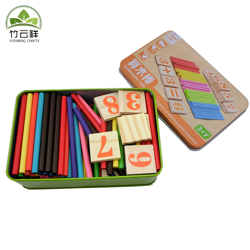 Baby Child mathematics Learning toy 100pcs Counting sticks And 27pcs Number blocks