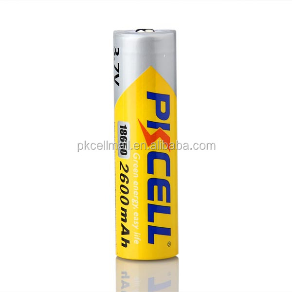 Hot Sale Pkcell ISO9001-2000 3.7Volt battery Lithium ion 18650 2600mAh Rechargeable 500 cycle 18650 lithium battery