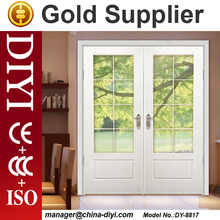 DYM-070 teak wood double door design teak wood door design solid wood door