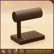 Elegance Solid wood T bar jewelry display stand for bracelet and watch