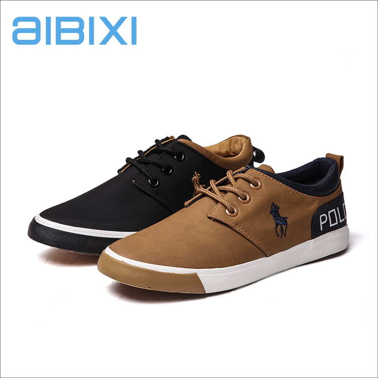 AIBIXI Manufacturer Designs khaki Color High-Grade Frosted Pu Leather Men Footwear