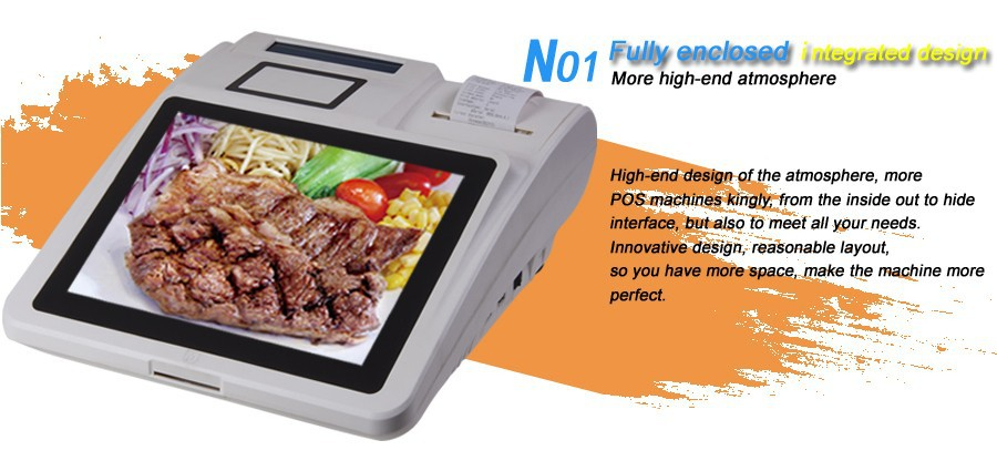 Android 4.2 Touch Screen POS Terminal with MSR/RFID Reader for Membership Card System