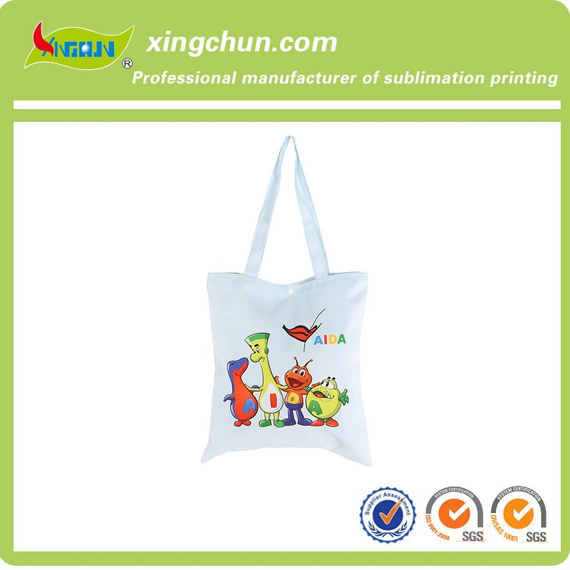 Customized natural cotton canvas tote shopping bag