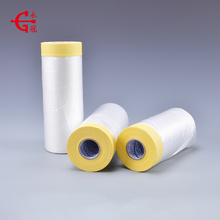 Wholesale auto spray paintable plastic adhesive pre-taped masking film