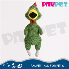 New Design fashion can be interactive plush animal chicken pet toys