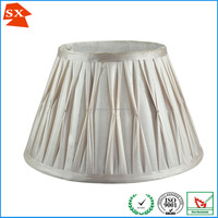white violets small pleated ruffle silk fabric table or chandelier light shade