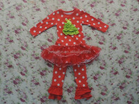 Children persnickety Christmas clothing set wholesale boutique tutu holiday outfits baby girls collection outfits