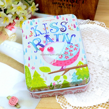 Creative Illustrations Wedding Candy Packaging Box Business Card Organizer Small Metal Tin Boxes