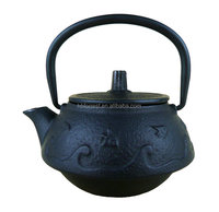 delicate japanese antique cast iron teapot made by hand