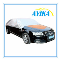 Custom Fit UV Protection Polyester Taffeta 190T Car Sunshade Half Car Cover
