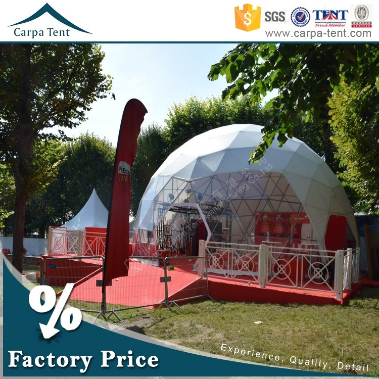 25m diameter large half sphere dome tent for outdoor event and business