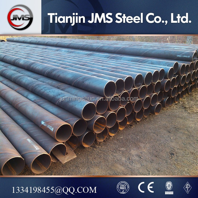 711*6.35mm bell end of SSAW weld steel pipe for water power station building project