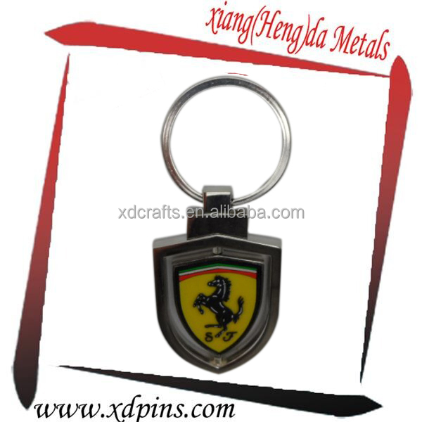 promotional luxury gift car symbol die cast key chain