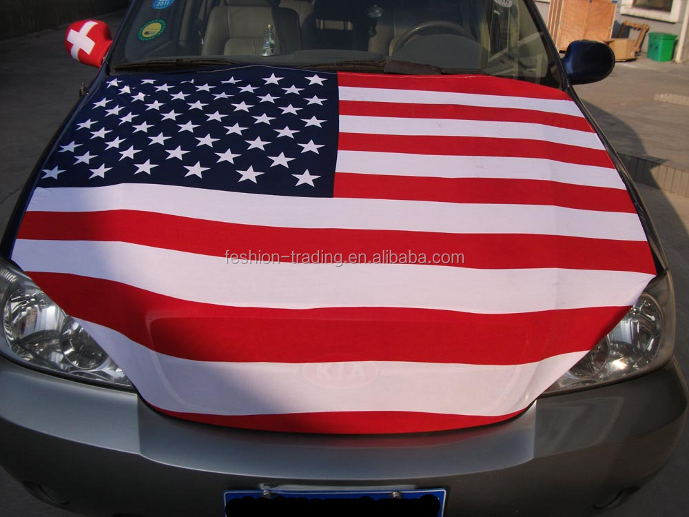 2016 hot Mexico 120x145cm car hood engine cover flag with elastic spandex cloth material