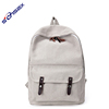 2018 Nice design wholesale white canvas backpack leisure travel backpack bags