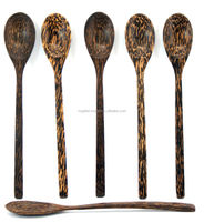 Wooden Soup Spoon Tableware Hand Craft Thai Palm tree Wood