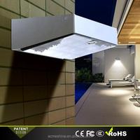 White Outdoor Light Solar Powered Motion Sensor Super Bright Solar LED Porch Light Garden Decoration Lamp Wall Light