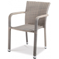 Commercial Use Flat Rattan Restaurant Chair